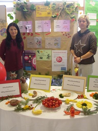 Die Ausstellung Ernährung und Klima an der Berufsschule und Technikerschule Butzbach in Hessen